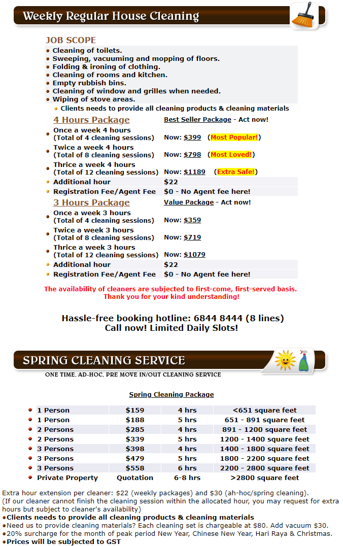 House Cleaning Rates