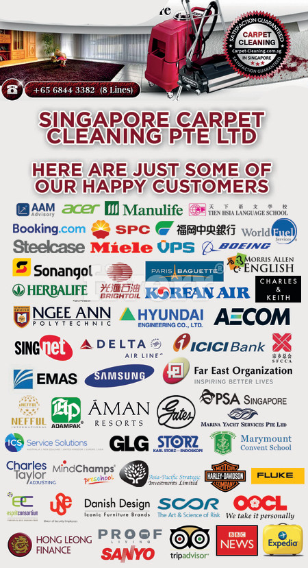 Singapore Carpet Cleaning Pte Ltd - Here are just some of our customers