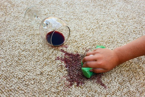 Removing red wine on carpet