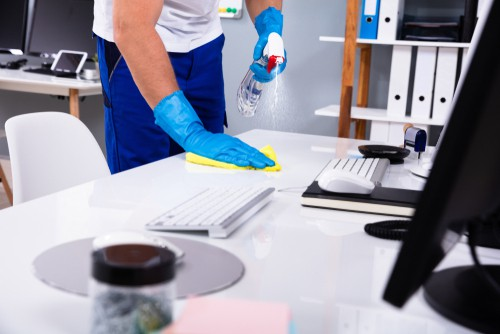 Office disinfecting and cleaning