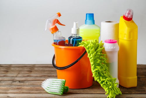 Using recommended cleaning products
