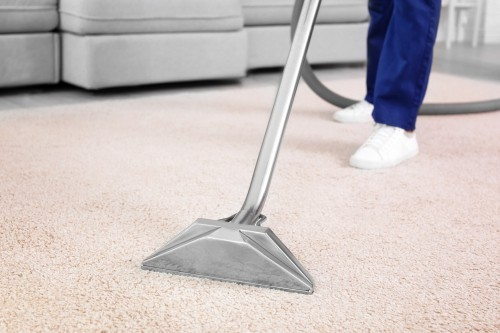 Rug Cleaning with Hot Water Extractor Machine